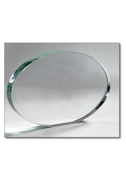 Trophäe ovales Glas 21x15cm