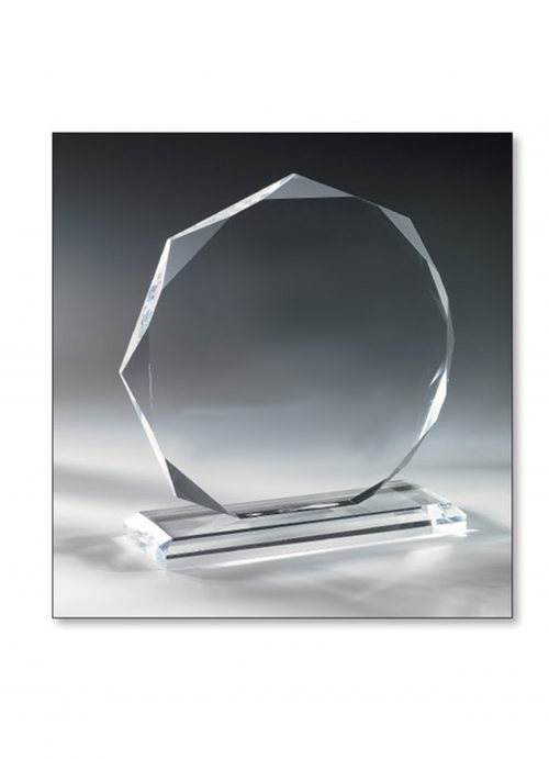 Trophäe Glas diamant 17cm