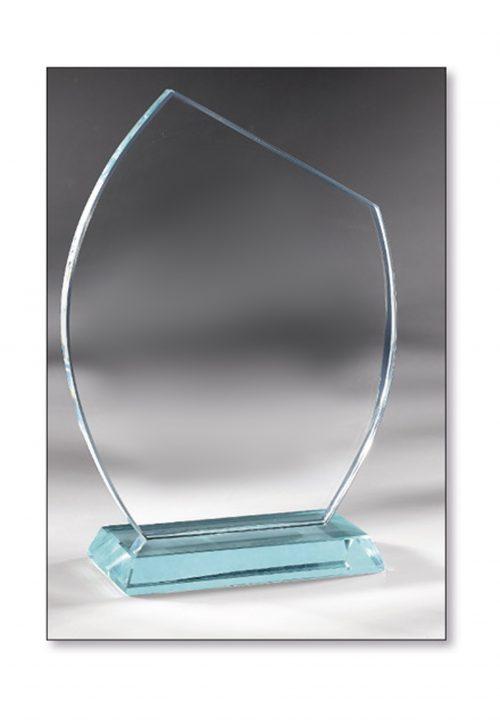 Trophäe abgeschrägte Glas 17cm