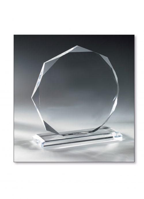 Trophäe Glas diamant 14cm