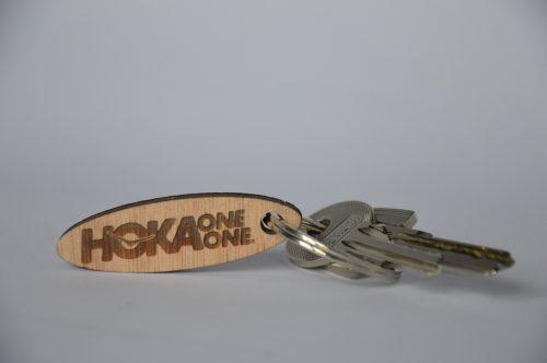 Gravierte Schlüssel Tür