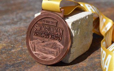Medaille Swim Run Man