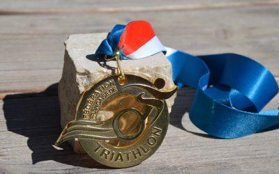 Finisher-Medaille französischer Triathlon-Verband